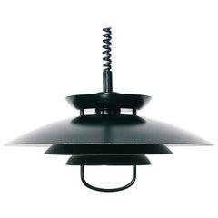 Vintage Danish Adjustable Pull Down Pendant Lamp