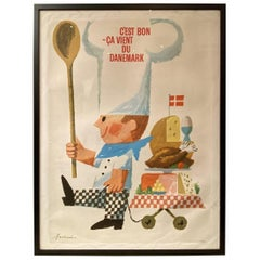Vintage Danish Advertising Poster-Antoni Jensen