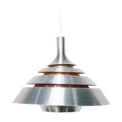 Vintage Danish Aluminum Pendant Lamp by Dana