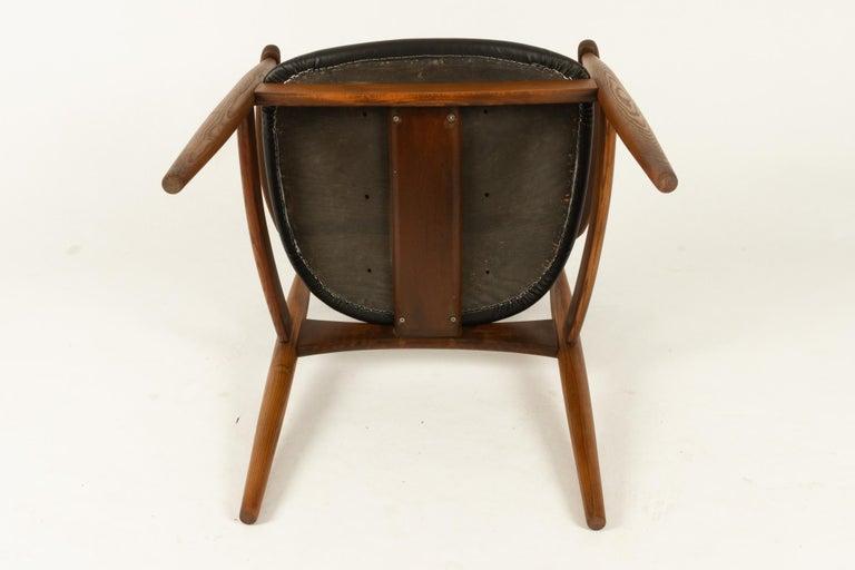 Vintage Danish Armchair by Illum Wikkelsø, 1950s For Sale 12