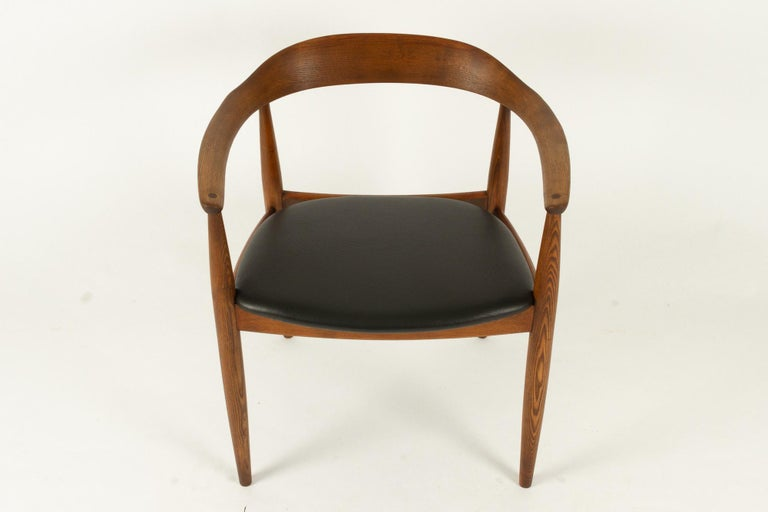 Vintage Danish Armchair by Illum Wikkelsø, 1950s In Good Condition For Sale In Nibe, Nordjylland