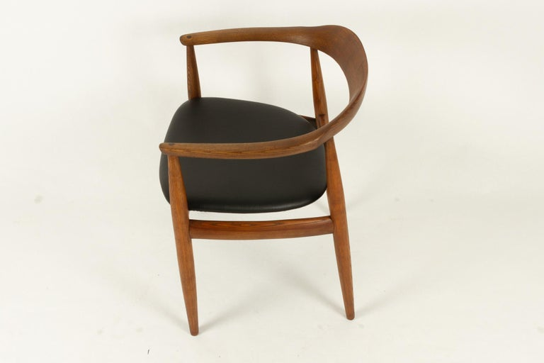 Vintage Danish Armchair by Illum Wikkelsø, 1950s For Sale 2