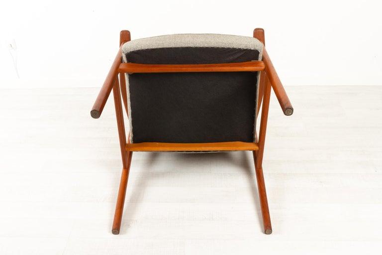 Vintage Danish Armchair in Teak by Erik Kierkegaard for Høng, 1960s 7