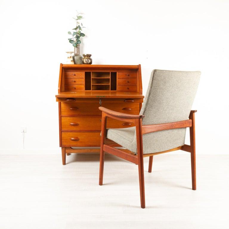 Vintage Danish Armchair in Teak by Erik Kierkegaard for Høng, 1960s 9