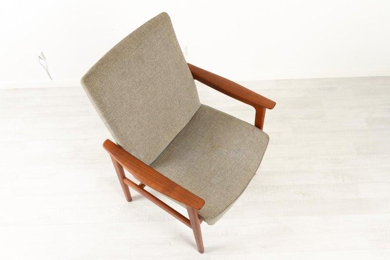 Vintage Danish Armchair in Teak by Erik Kierkegaard for Høng, 1960s 1