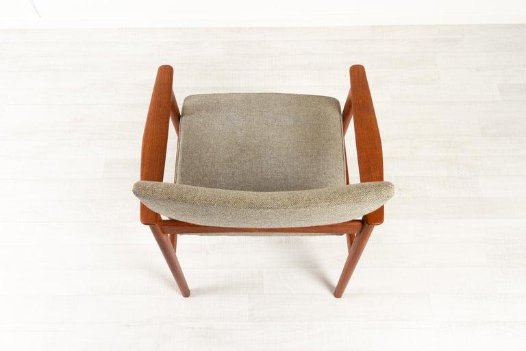 Vintage Danish Armchair in Teak by Erik Kierkegaard for Høng, 1960s 2