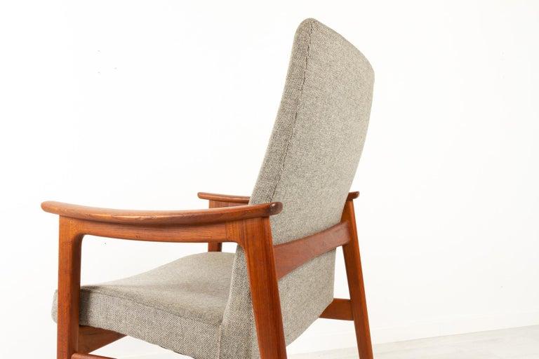 Vintage Danish Armchair in Teak by Erik Kierkegaard for Høng, 1960s 3