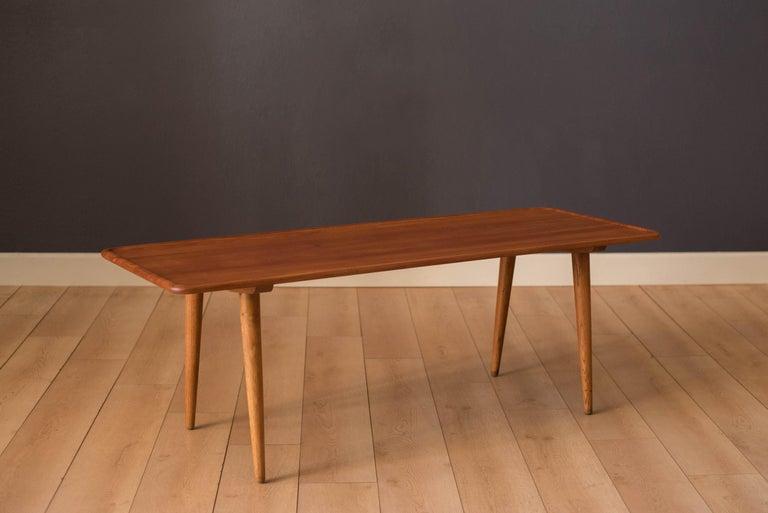 Scandinavian Modern Vintage Danish AT-11 Solid Teak Coffee Table by Hans J. Wegner For Sale