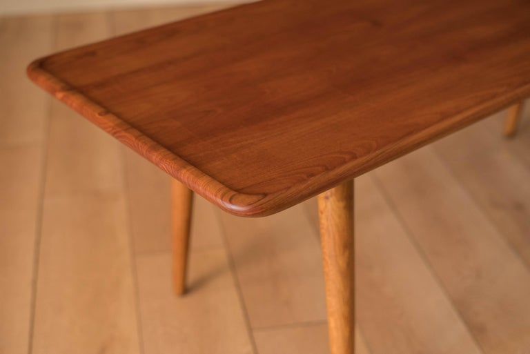 Vintage Danish AT-11 Solid Teak Coffee Table by Hans J. Wegner In Good Condition For Sale In San Jose, CA