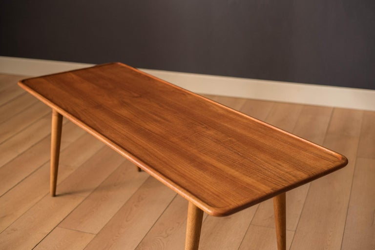 Mid-20th Century Vintage Danish AT-11 Solid Teak Coffee Table by Hans J. Wegner For Sale