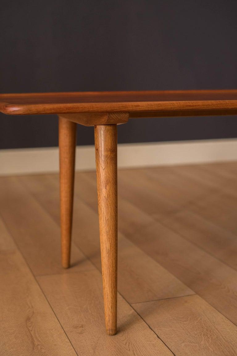 Oak Vintage Danish AT-11 Solid Teak Coffee Table by Hans J. Wegner For Sale