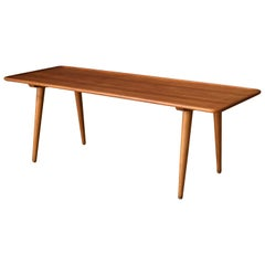 Vintage Danish AT-11 Solid Teak Coffee Table by Hans J. Wegner