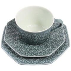 Vintage Danish Azur Coffee/Tea Service Trio by Jens H. Quistgaard for Kronjyden