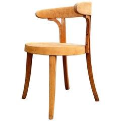 Vintage Danish Bauhaus Era Beech Desk Chair by Magnus Stephensen, Frits Hansen