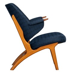 Vintage Danish Blue Model No. 14L Armchair from Poul Hundevad, 1950s