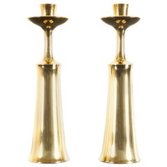 Vintage Danish Brass Candleholders by Jens H. Quistgaard for Dansk Designs 1960s