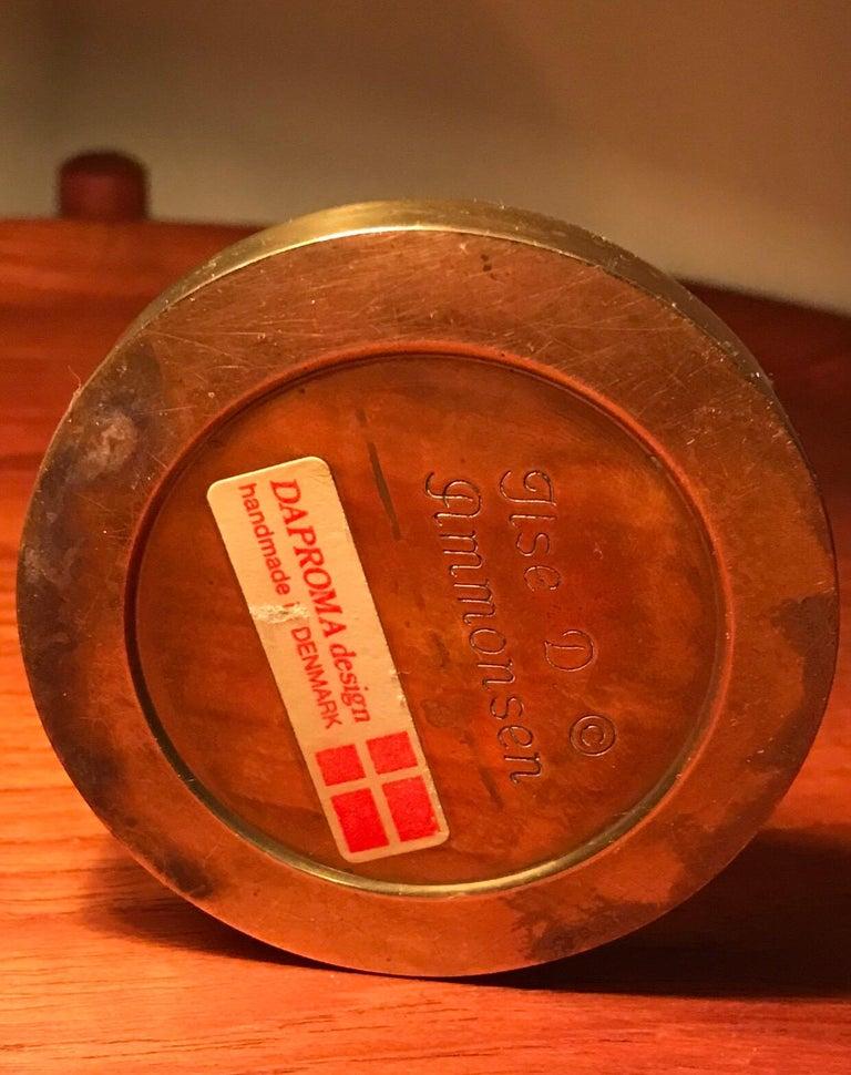 Vintage Danish Brass Oil Lamp Designed by Ilse Ammonsen In Good Condition For Sale In Søborg, DK