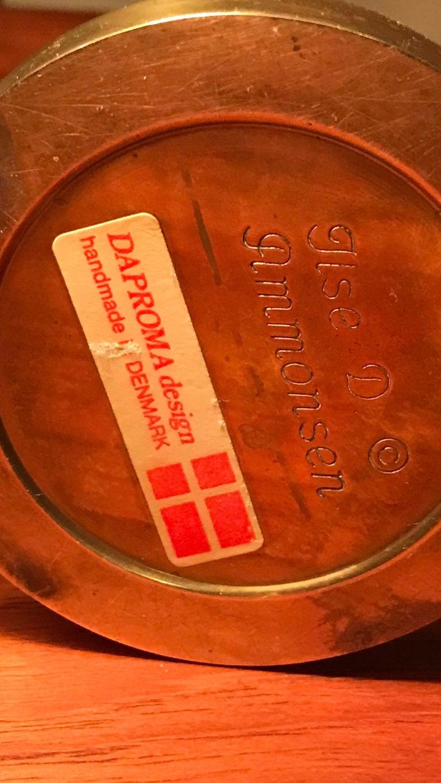 Vintage Danish Brass Oil Lamp Designed by Ilse Ammonsen For Sale 1
