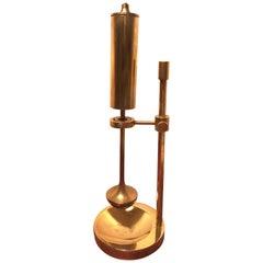 Vintage Danish Brass Oil Lamp Designed by Ilse Ammonsen