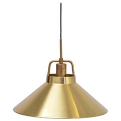 Danish Mid-Century Modern Brass Pendant by Lyfa, 1960s
