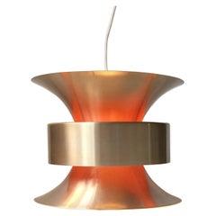 Vintage Danish Brass Pendant Light by Bent Nordsted for Lyskaer, 1970s