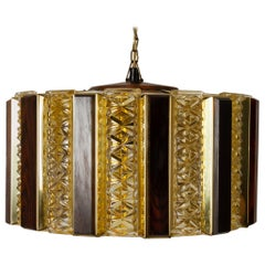 Vintage Danish Ceiling Pendant by Werner Schou for Coronell Elektro, 1960s