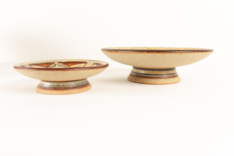 Mid-20th Century Vintage Danish Ceramic by Søholm 1960s Set of 5 For Sale