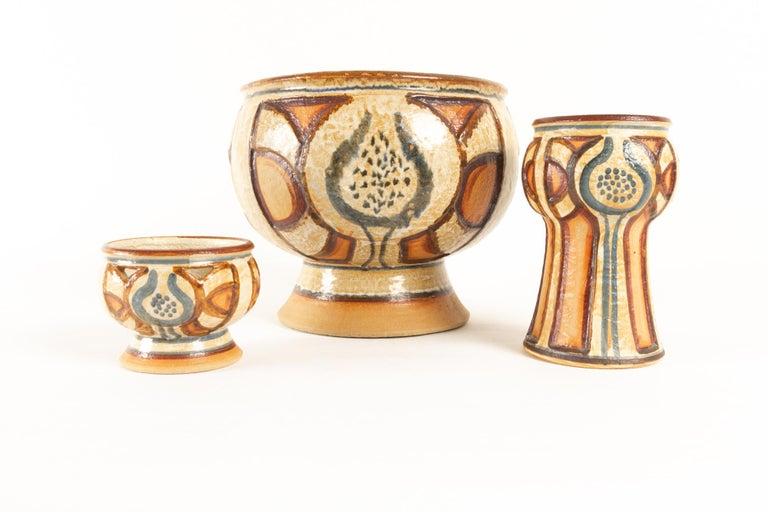 Vintage Danish Ceramic by Søholm 1960s Set of 5 For Sale 4