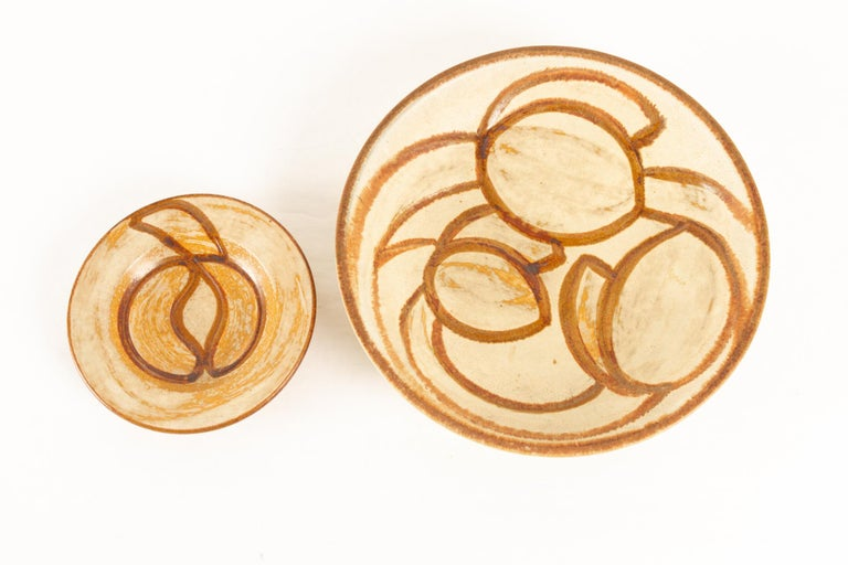 Mid-Century Modern Vintage Danish Ceramic Dishes by Søholm 1960s, Set of 2 For Sale