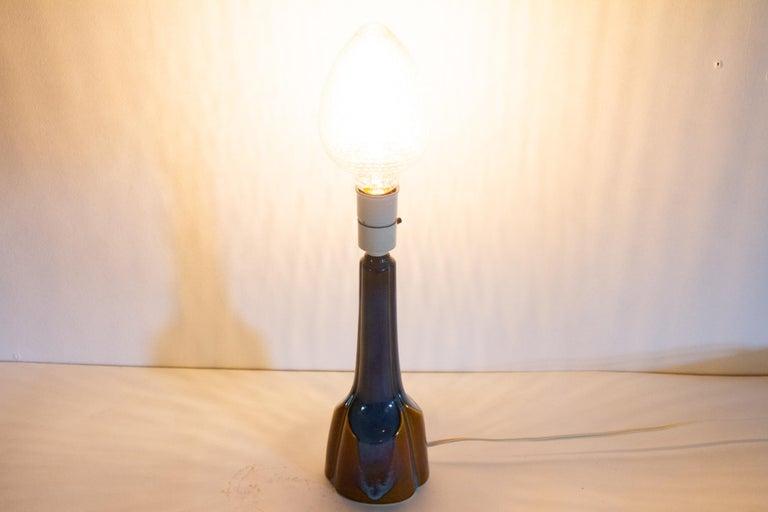 Vintage Danish Ceramic Table Lamp by Søholm, 1960s For Sale 6
