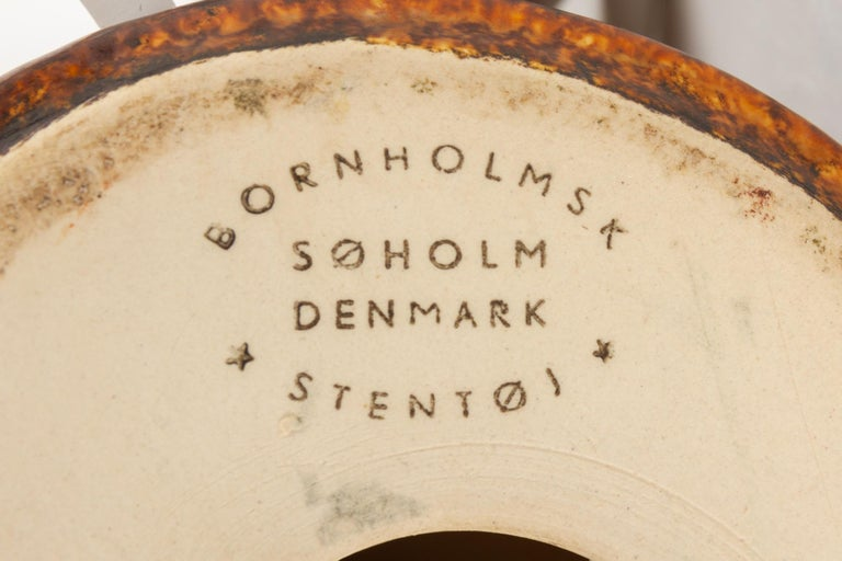 Vintage Danish Ceramic Table Lamp by Søholm, 1960s For Sale 7