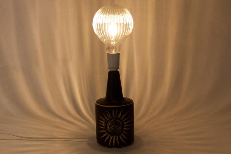 Vintage Danish Ceramic Table Lamp by Søholm, 1960s For Sale 9