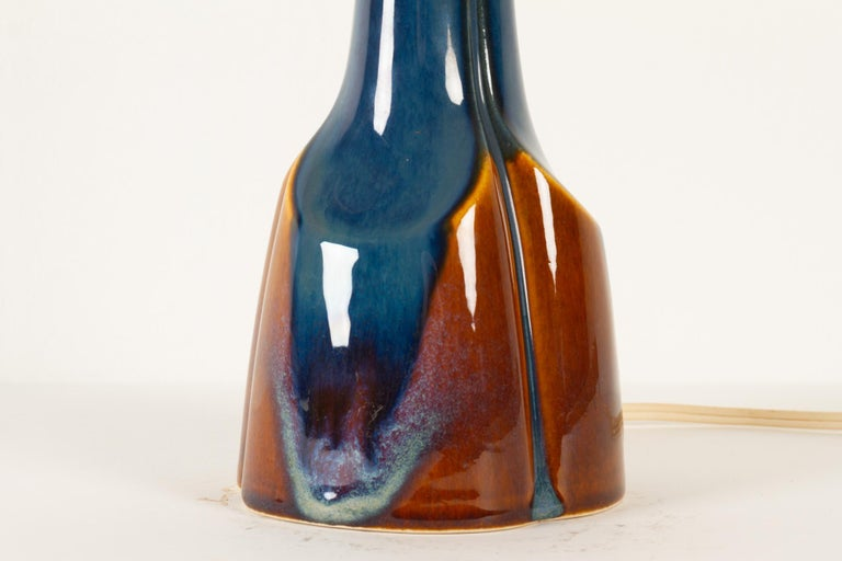 Mid-20th Century Vintage Danish Ceramic Table Lamp by Søholm, 1960s For Sale