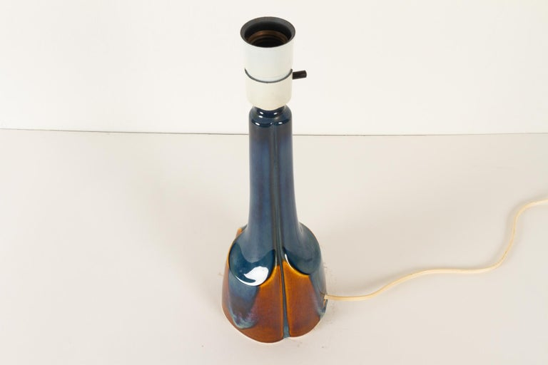 Vintage Danish Ceramic Table Lamp by Søholm, 1960s For Sale 2