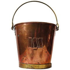 Vintage Danish Champagne Ice Bucket in Copper and Brass, 1970s