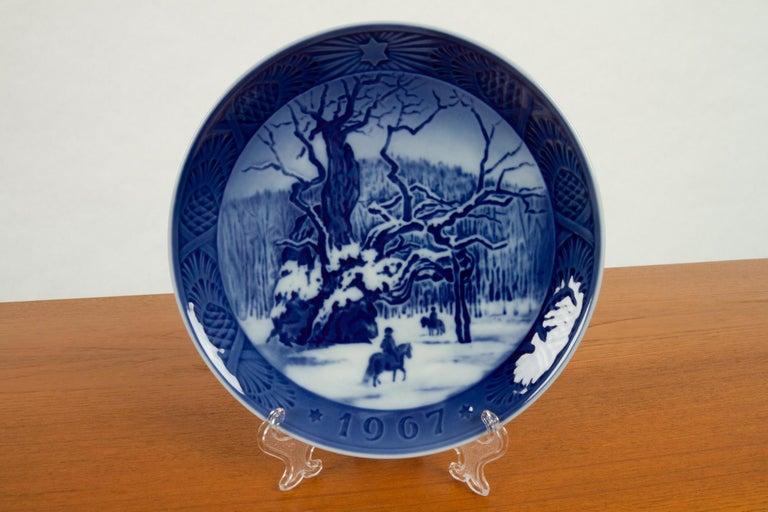 Porcelain Vintage Danish Christmas Plates, Set of 16 For Sale