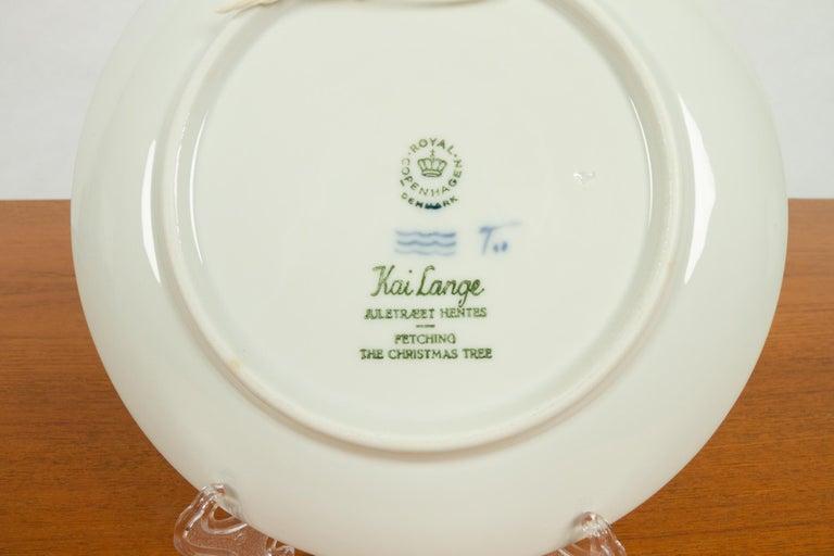 Vintage Danish Christmas Plates, Set of 16 For Sale 2