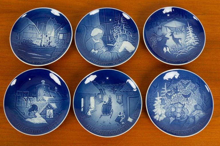European Vintage Danish Christmas Plates, Set of 23 For Sale