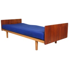 Vintage Danish Daybed Studio Couch Teak Day Sofa Bed