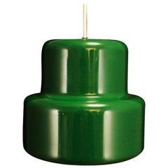 Vintage Danish Design Green Metal Lamp Midcentury