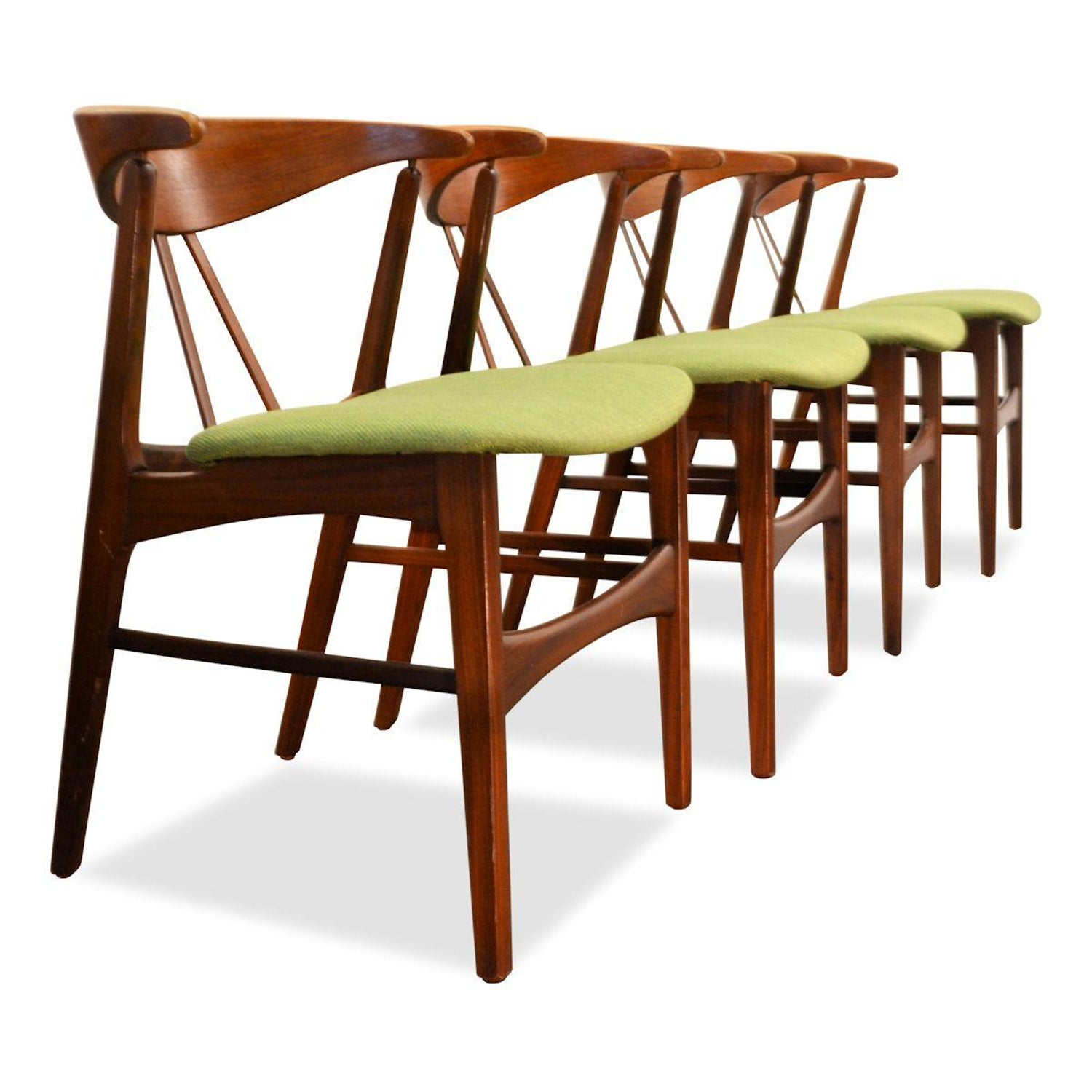 7a49a323f715 Vintage Danish Design Teak/Oak Dining Chairs, Set of 4 at 1stdibs