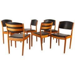 Vintage Danish Dining Chairs by Poul Volther for FDB Møbler, 1960s, Set of 6