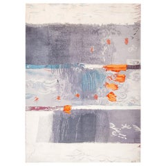 "Vintage Danish Ege Art Rug Based on Arne L Hansen Painting. Size: 8' 2"" x 11'"