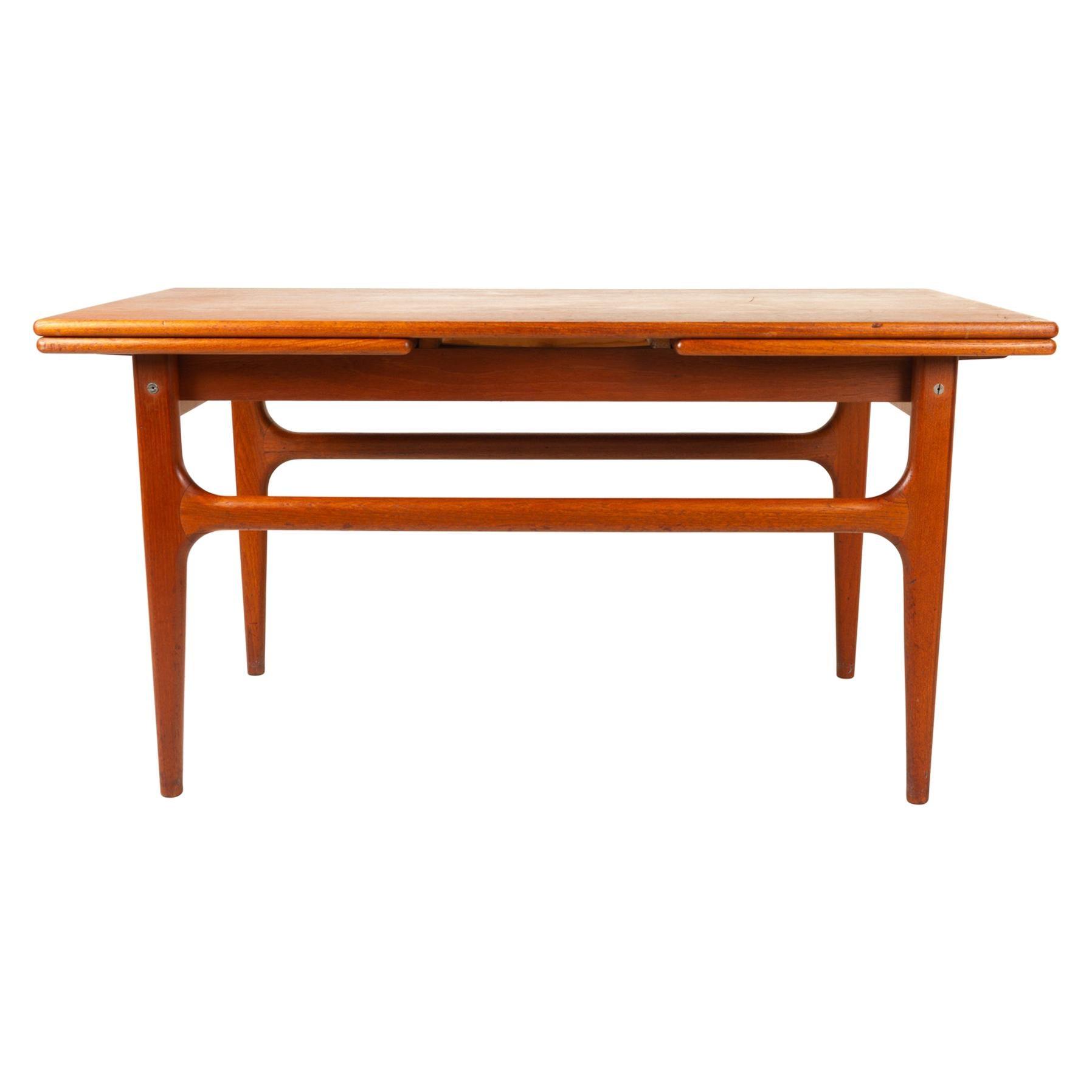 Vintage Danish Extendable Teak Coffee Table by Trioh, 1960s