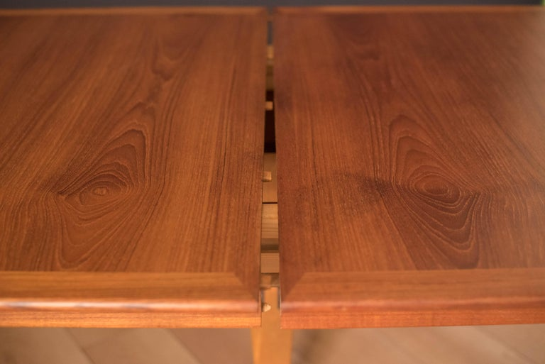 Vintage Danish Extendable Teak Dining Table by Grete Jalk For Sale 5
