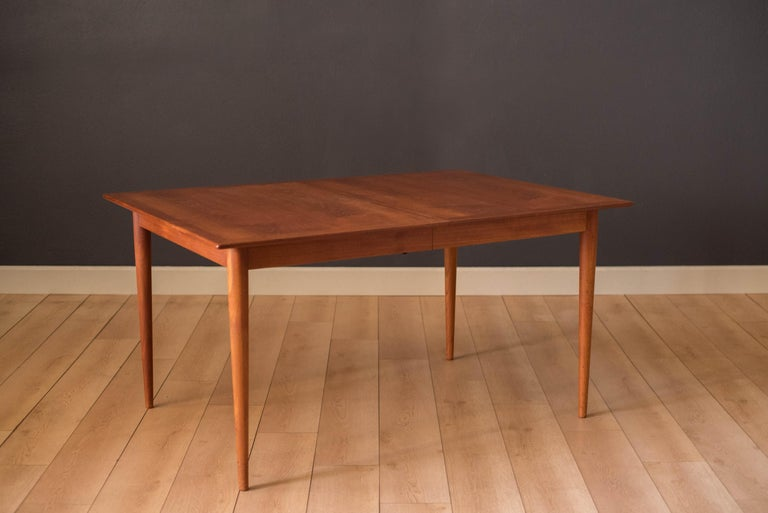 Vintage Danish Extendable Teak Dining Table by Grete Jalk In Good Condition For Sale In San Jose, CA