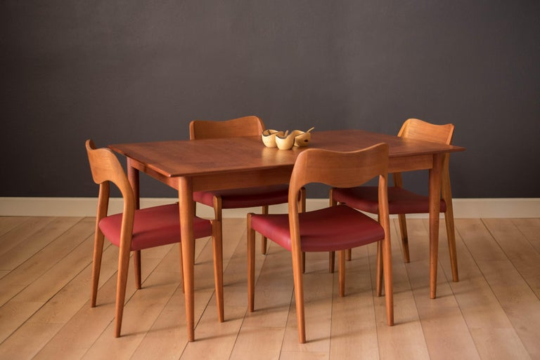 Mid-20th Century Vintage Danish Extendable Teak Dining Table by Grete Jalk For Sale