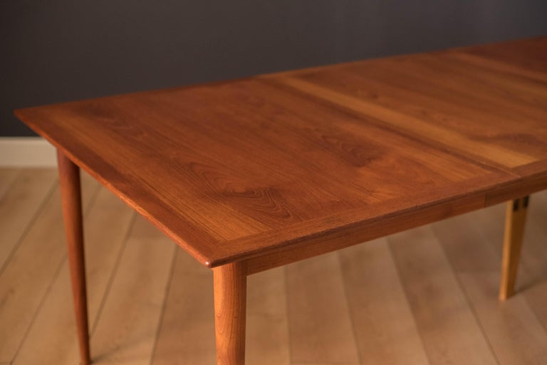 Vintage Danish Extendable Teak Dining Table by Grete Jalk For Sale 1