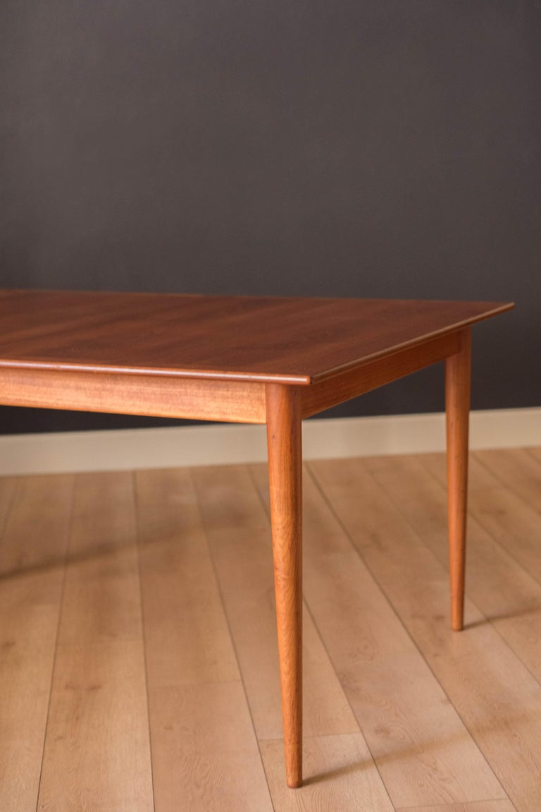 Vintage Danish Extendable Teak Dining Table by Grete Jalk For Sale 3