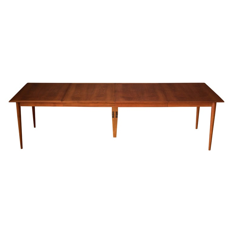 Vintage Danish Extendable Teak Dining Table by Grete Jalk For Sale